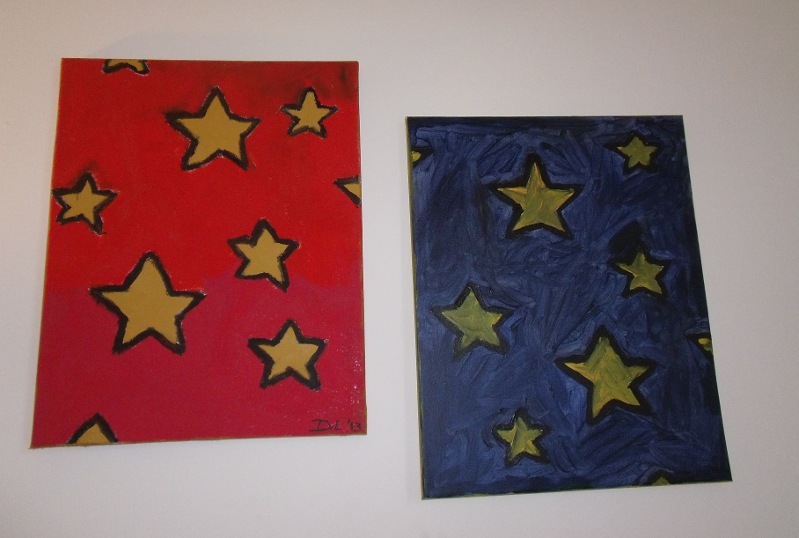 Stars Red and Blue